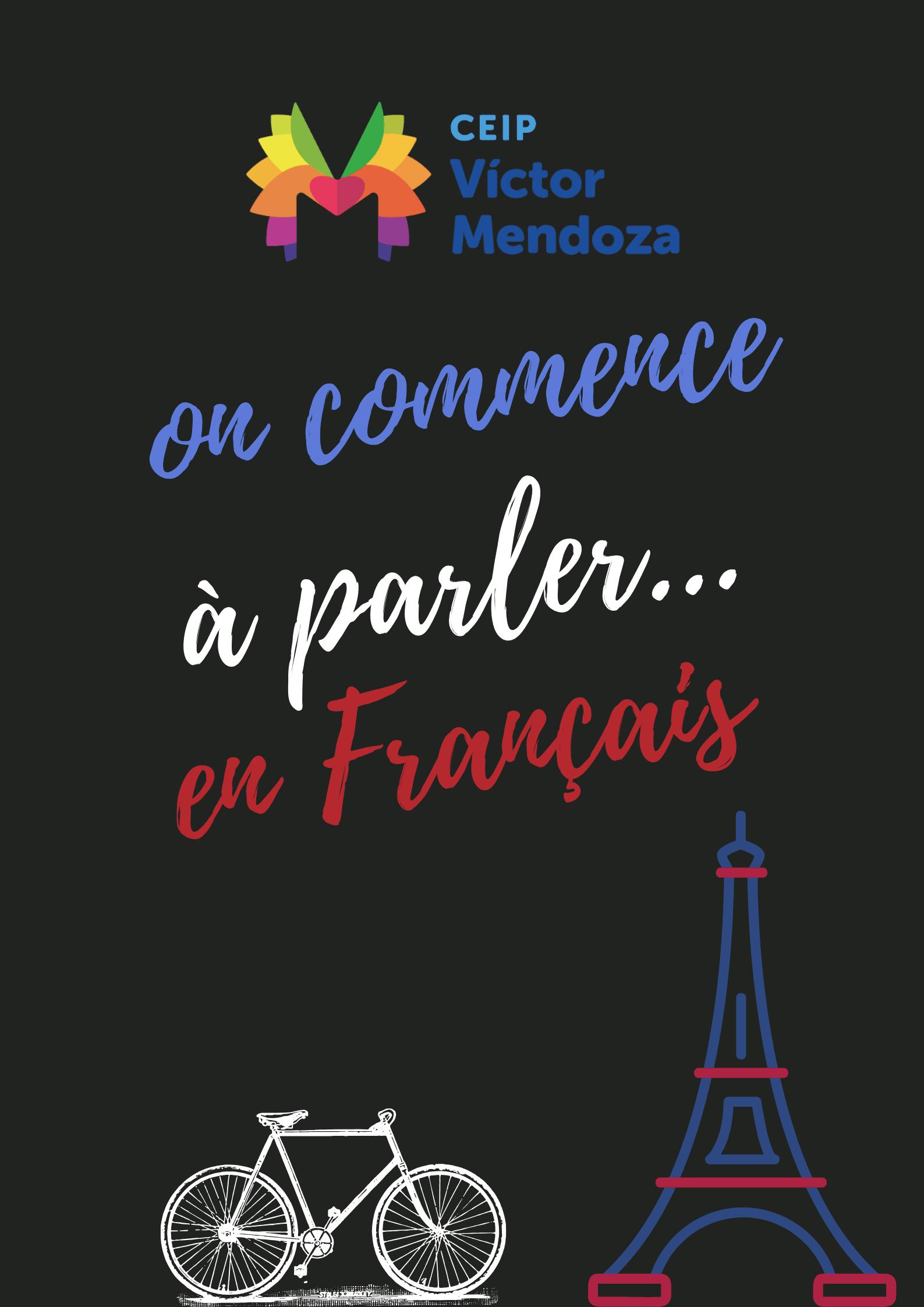 Póster Texto Francés Ilustrativo